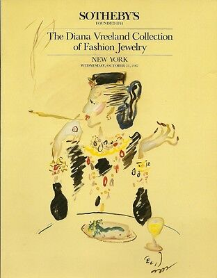 SOTHEBY'S Diana Vreeland Collection Fashion Jewelry Costume Auction Catalog 1987