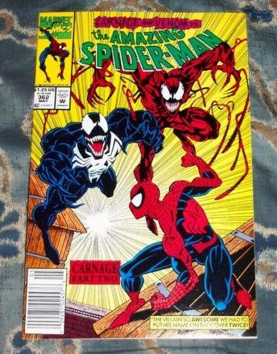 Amazing Spider-Man 362 Newsstand NM+ 2nd app Carnage High Grade Marvel Comic