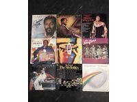 9 x vintage vinyl albums mixed genres