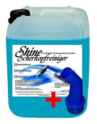 5 Ltr. Scherkopfreiniger Reinigungsflüssigkeit Braun inkl. Auslaufhilfe gratis