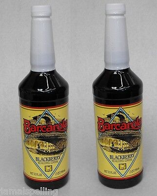 2 Pack Gourmet Blackberry Syrup 32oz. Coffee Drink Italian Soda Flavor