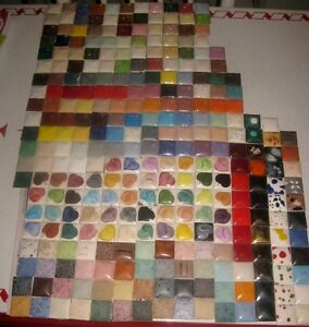 200+ One and One Eighth Inch Ceramic Tiles Salesman Samples