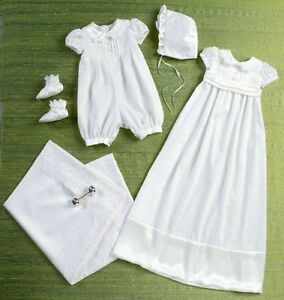 Butterick 6045 Sewing Pattern to MAKE Christening Gown Rompers Booties Blanket