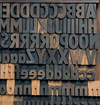 Letterpress Wood Printing Blocks 154pcs 1.42 Tall Alphabet Wooden Type Woodtype