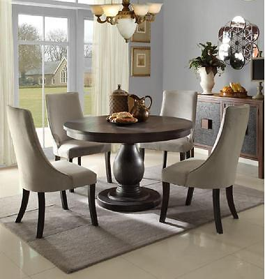 STUNNING CASUAL PEDESTAL DINING TABLE & CHAIRS DINING ROOM FURNITURE SET