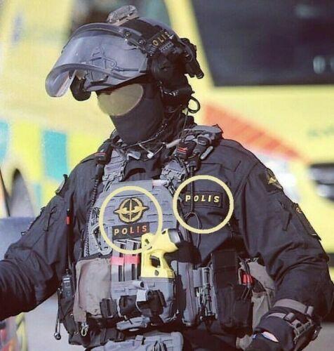 SVERIGE SWEDEN SWEDISH POLISEN POLIS PIKETEN PIKETENHETEN瑞典警察velkrö 3-PATCH SWAT