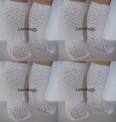 "Lovvbugg 4 Pr W Lattice Diamond Socks Stockings for 15"" - 18"" American Girl Doll Clothes"