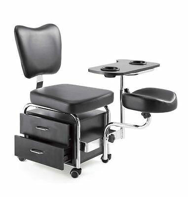 Urbanity manicure pedicure nail station beauty chair stool table spa drawers bl