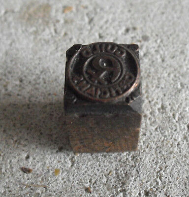 Vintage Opticians Guild Wood Metal Letterpress Print Block Stamp