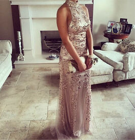 Rose gold formal dress for sale wore once