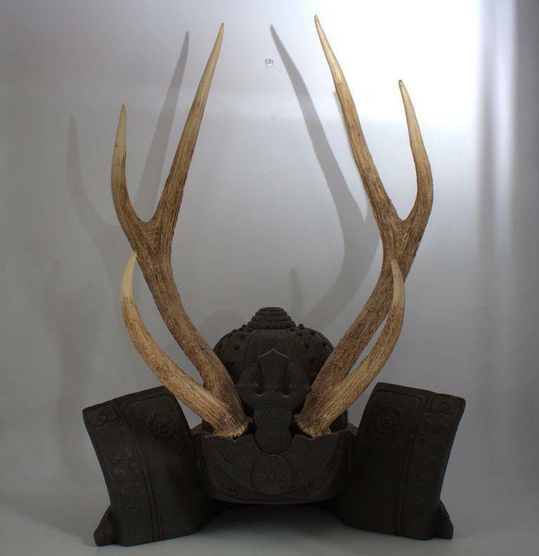 Japanese wooden Sword Rack stand Katana kake horn Kabuto SWR248