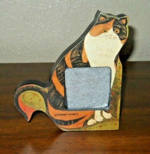 Warren Kimble - Claire - Cat Frame - Calico