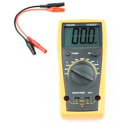 Vc6243 Inductorcapacitor Lc Meter 2nf-2000uf2mh-20h Capacitance Inductance