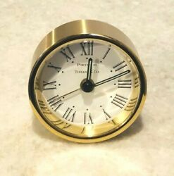 TIFFANY & CO PORTFOLIO Gold Alarm Desk Mantle TRAVEL Clock
