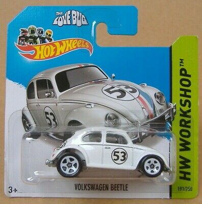 Hot wheels 2014 HW WORKSHOP 191/250 VOLKSWAGEN BEETLE (LOVE BUG #53)