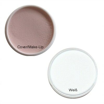 Weiße Make-up Pulver (2x 10g Acryl Pulver Acryl Puder Weiß French / Cover Make-Up)