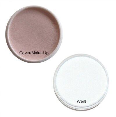 Weiße Make-up Pulver (2x 20g Acryl Pulver Weiß French / Cover Make-Up)