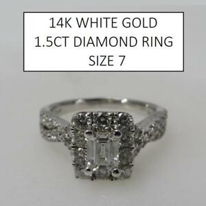 NEW* 14K GOLD 1.5CT DIAMOND RING 179484 195459554 STAMPED 14K WHITE GOLD RPG JEWELLERY JEWELRY 1.5CTTW DIAMOND