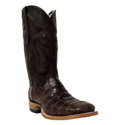 Cowtown, Mens, Brown, Square, Toe, Caiman, Western, Boots, Q8878