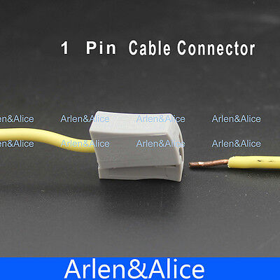 20pcs Single 1 Pin Cable Wire Wiring Connecting Connector For Lamp