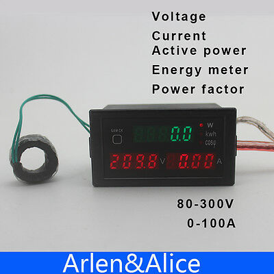 Dl69 Multi-functionalled Display Electric Energy And Power Factor 80-300v 0-100a