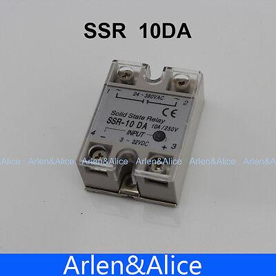 10da Ssr Input 3-32v Dc Load 24-380v Ac Single Phase Ac Solid State Relay