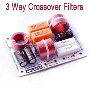 NEW 200w Multi Speaker 3 Unit Audio Frequency Divider 3 Way Crossover Filters