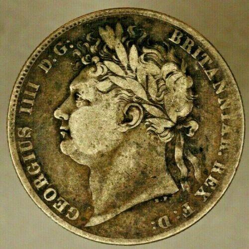 1820 Great Britain Silver 1/2 Crown Circulated Dark Tone ** FREE U.S SHIPPING **