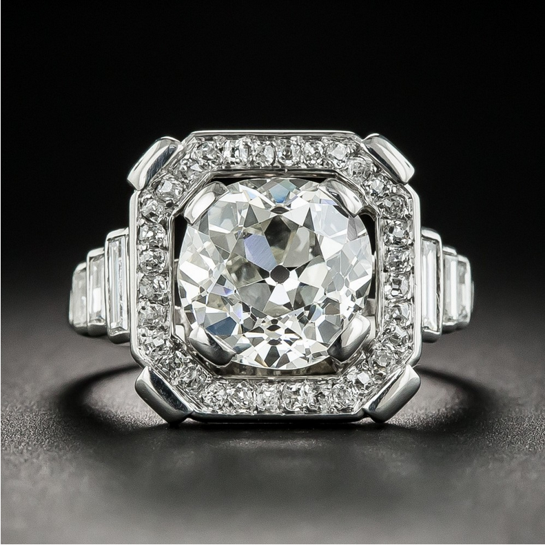 Vintage 925 Silver Round Cut White Topaz Simple Design Wedding Engagement Ring Ebay