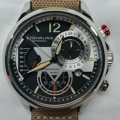 Stuhrling 908 Aviator Bandit 45mm Men's Watch 908.01