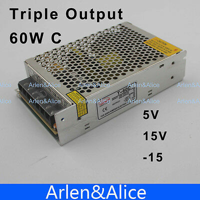 60w Triple Output 5v 15v -15v Switching Power Supply Smps Ac To Dc Dc5a 2a 0.5a