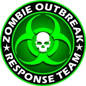 Zombie Outbreak Response Team Vinyl Decal Sticker Multi-Color