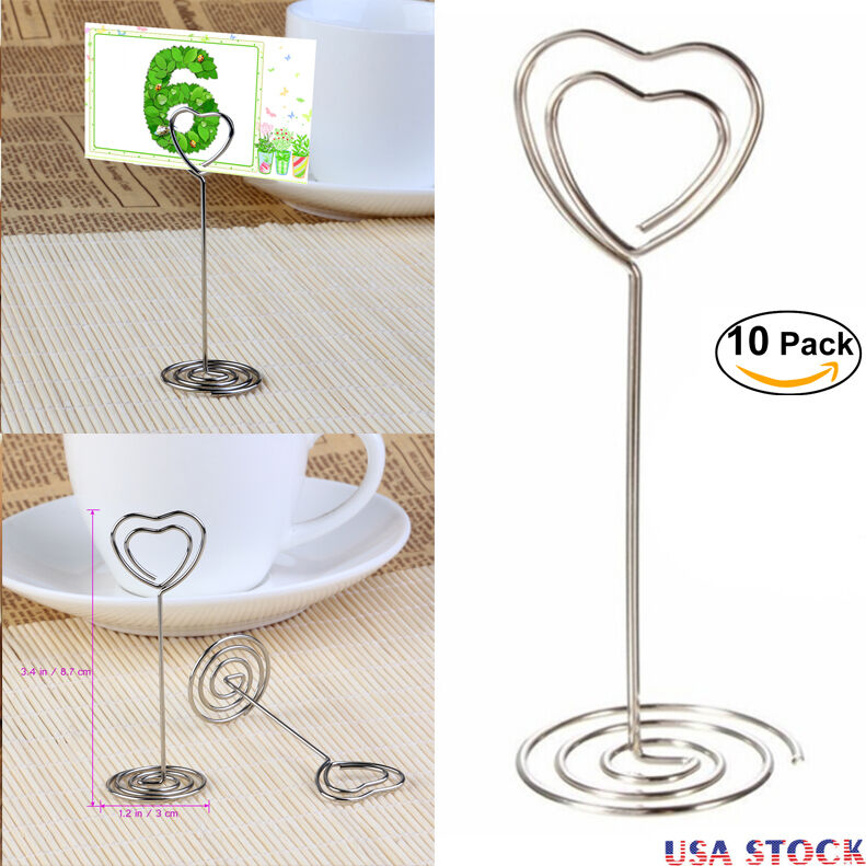10pcs Wedding Favors Place Card Holder Table Photo Memo Number Name