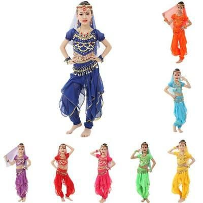 2PCS KID's Professional Belly Dance Costumes Set Halloween Costumes for Girl - Belly Dancing Costumes For Halloween