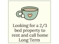 Wanted 2 / 3 bed property to rent Long Term