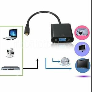 1080P Micro HDMI Male input to VGA Female output Video Converter