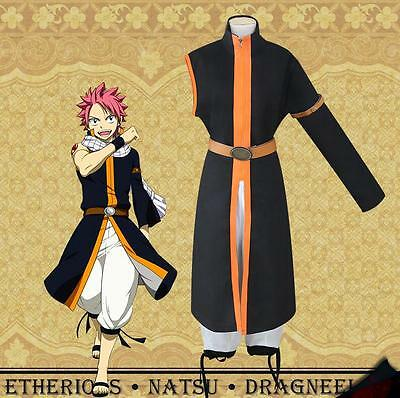 Halloween Japanese Anime Fairy Tail Natsu Dragneel Popular Cosplay Costume coat](Popular Halloween Costumes)