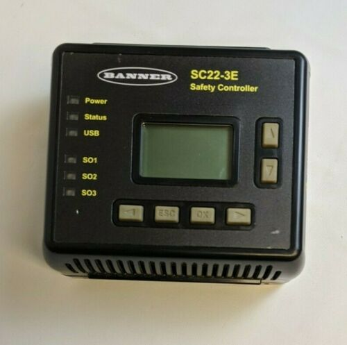 Banner SC22-3E Programmable 24VDC Safety Controller