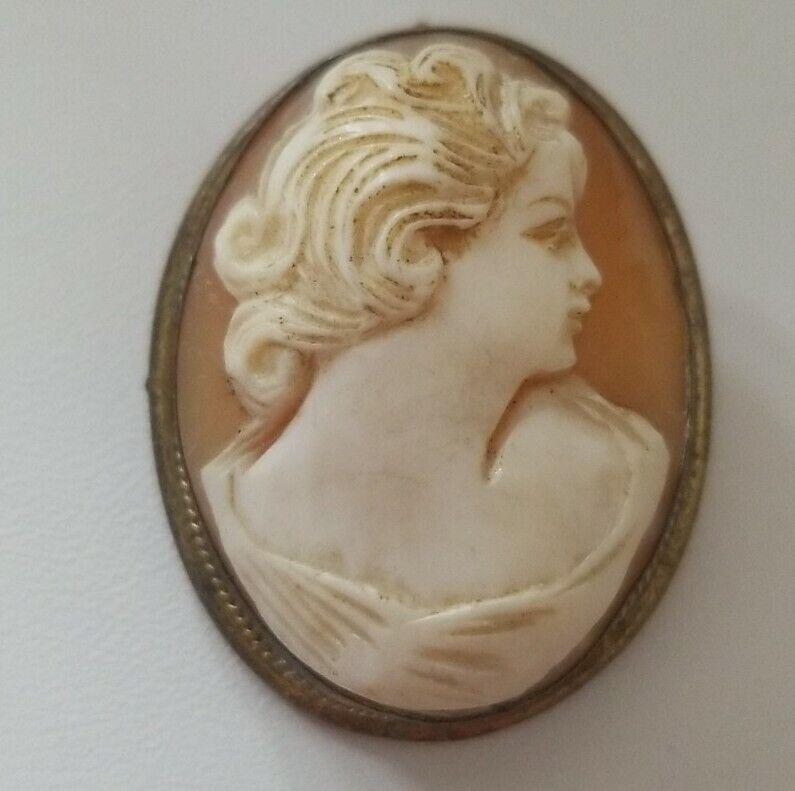 Antique Cameo Pendant/Pin, Gorgeous Details,1920s