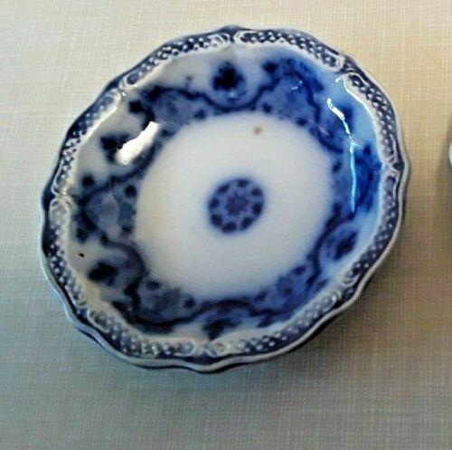 ANTIQUE FLOW BLUE BUTTER PAT   #15