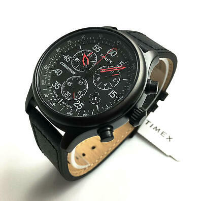 Men's Timex Expedition Field Classic Chronograph Black leath