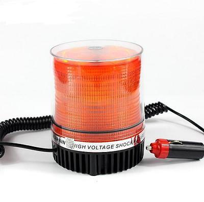 Amber Magnetic Beacon Light Emergency Warning Strobe Flash Yellow Roof Round