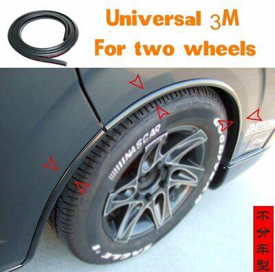 118'' PVC Car Fender Flares Extension Black Wheel Eyebrow Protector Lip Trim