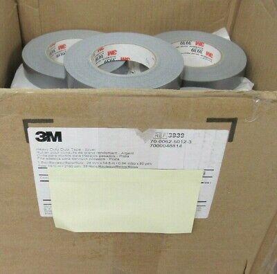 3m Heavy Duty Duct Tape 3939 Silver 24 Mm X 54.8m Box Of 29 Rolls 10d