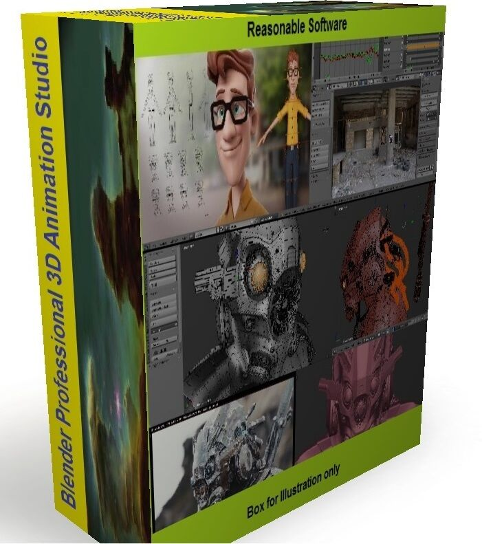 Blender 3D Animation Studio Professional Graphics Film Software Digital download