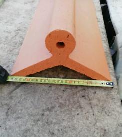 New 125 degree Terracotta Roll top Ridges