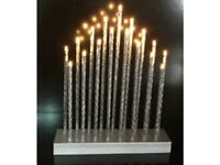 B/O 29cm Aluminum Tube Table Lights w/17 Warm White LEDs