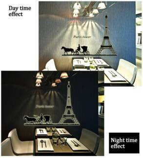 Glow In The Dark Room Decals Wall Sticker-Famous Cities