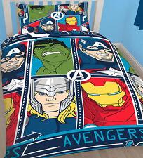 """Marvel Avengers """"Tech"""" Kids Characters Boys Single Duvet Quilt Cover Set"""