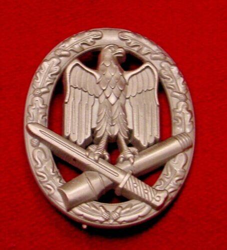 GERMAN WWII GENERAL ASSAULT BADGE IN SILVER WEHRMACHT BUNDESREPUBLIK VETERANS
